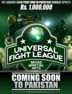universal fight league coming soon to pakistan