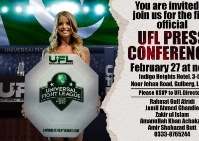 ufl press conference in lahore february 27