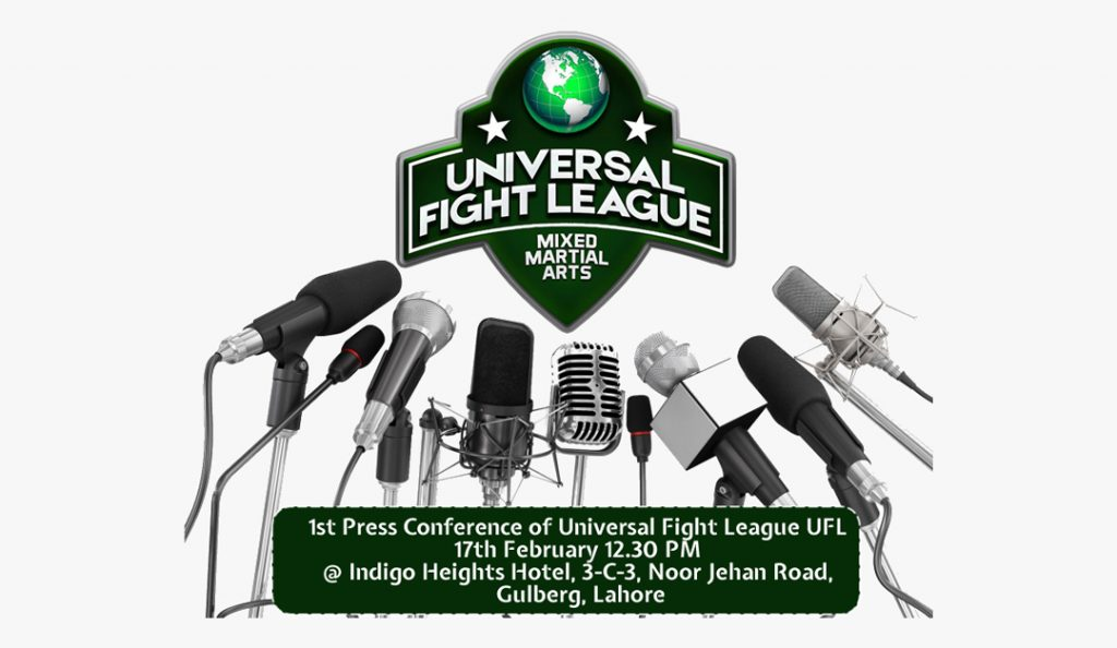 universal fight league conference 1st press