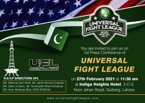 universal fight league invitation on 27 february 2021