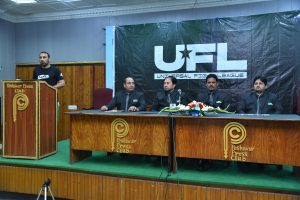 universal fight league press conference in peshawar
