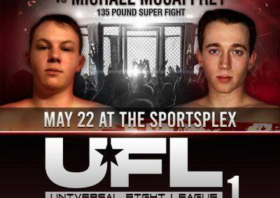 Anthony Hogeback vs Michael McCaffrey in 135 Pound Super Fight on May 22 at The SportsFlex