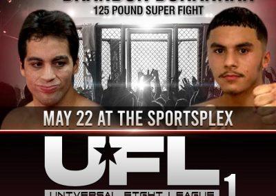 Estevan Soto vs Brandon Bohannan in 125 Pound Super Fight on May 22 at The SportsFlex