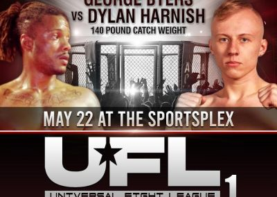 George Byers vs Dylan Harnish in 140 Pound Catch Weight Fight on May 22 at The SportsFlex