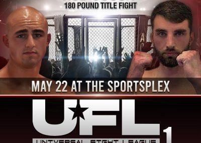 John Garbarino vs Rob Sousa in 180 Pound Title Fight on May 22 at The SportsFlex