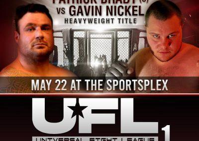 Patrick Brady vs Gavin Nickel in Heavyweight Fight on May 22 at SportsPlex
