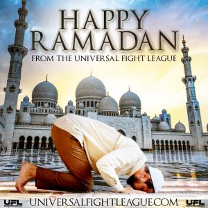 happy ramadan from the universal fight league
